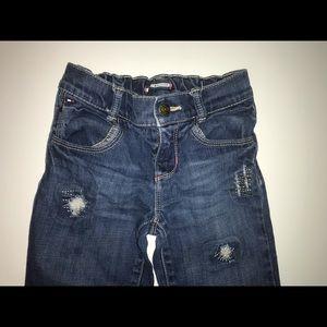 Tommy Hilfiger blue jeans.
